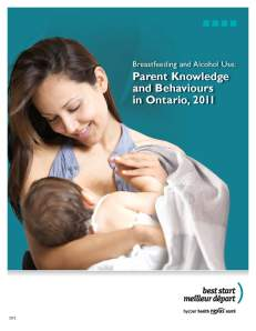 Breastfeeding and alcohol survey cover