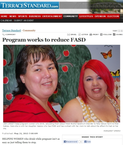 'Terrace Standard - Program works to reduce FASD'