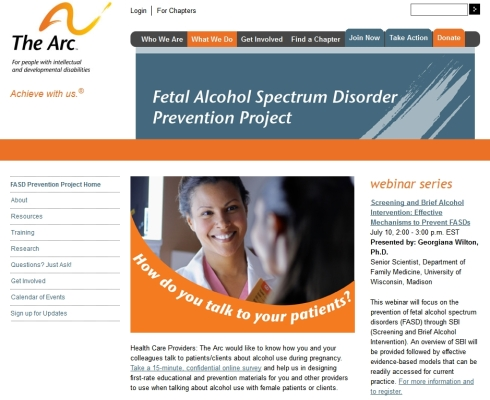 The Arc FASD Prevention Project