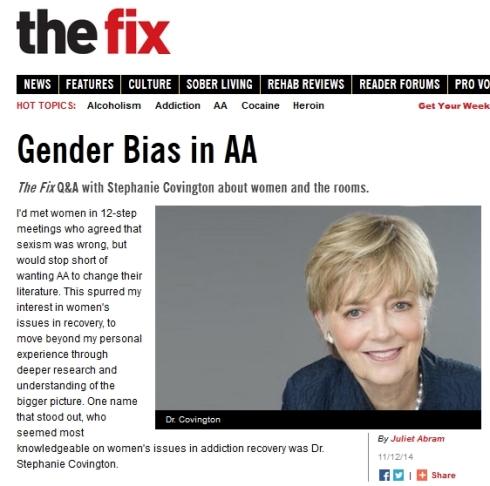 Gender Bias in AA I The Fix